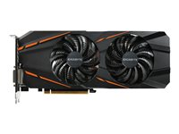 Gigabyte GeForce GTX 1060 G1 Gaming 6G (rev. 1.0) - OC Edition - carte graphique - GF GTX 1060 - 6 Go GDDR5 - PCIe 3.0 x16 - DVI, HDMI, 3 x DisplayPort