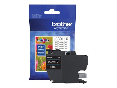Brother LC-3011C Cyan original ink cartridge