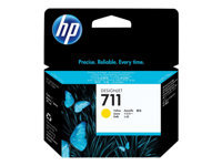 Picture of HP 711 - dye-based yellow - original - DesignJet - ink cartridge (CZ132A)