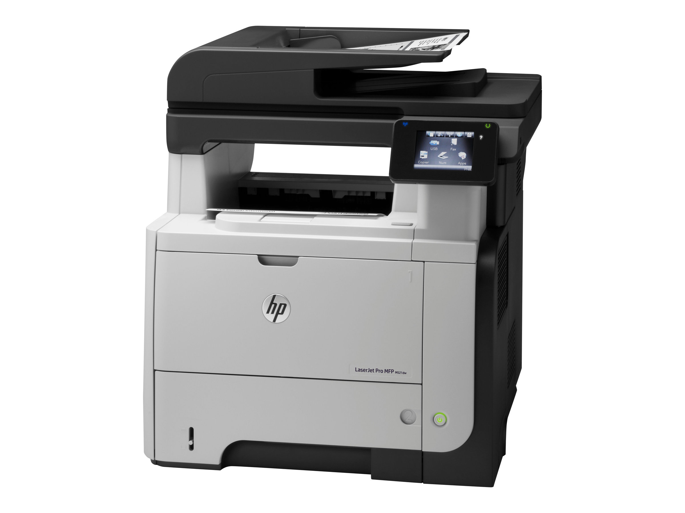 HP LaserJet Pro MFP M521dw - Multifunktionsdrucker - s/w - Laser - Legal (216 x 356 mm) (Original) - A4/Legal (Medien)
