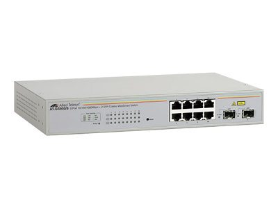 Allied Telesis AT GS950/8 WebSmart Switch - Switch - verwaltet - 8 x 10/100/1000 + 2 x Shared SFP - Desktop