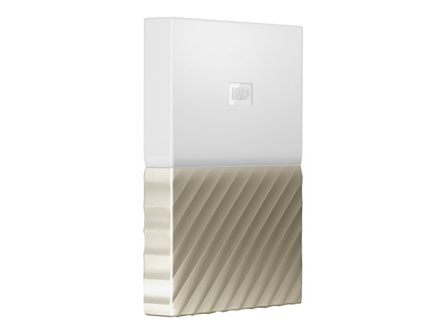 WD My Passport Ultra WDBTLG0020BGD - Disque dur - chiffré - 2 To - externe (portable) - USB 3.0 - AES 256 bits - or blanc
