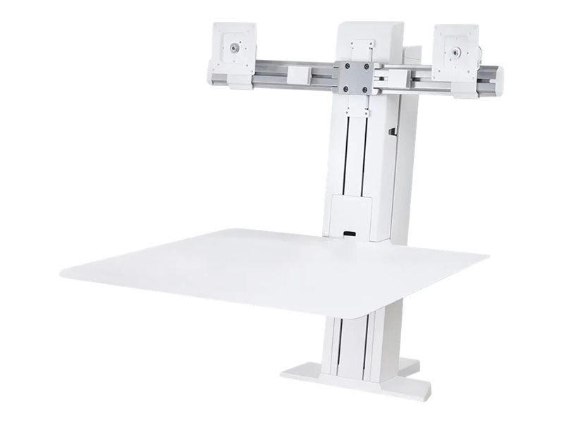 Ergotron WorkFit-SR Dual Monitor Sit-Stand Desktop Workstation Standing Desk - ställ