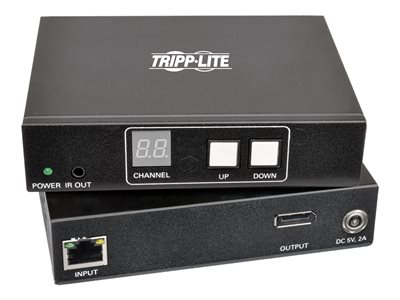 Tripp Lite DisplayPort Audio/Video with RS-232 Serial and IR Control over IP Extender - Kit - video/audio/infrared/serial extender - DisplayPort - up to 656 ft