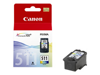 Picture of Canon CL-511 - colour (cyan, magenta, yellow) - original - ink cartridge (2972B001)
