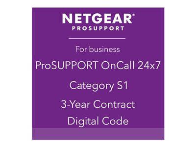 NETGEAR ProSupport OnCall 24x7 Category S1 Technical support phone consulting 3 years