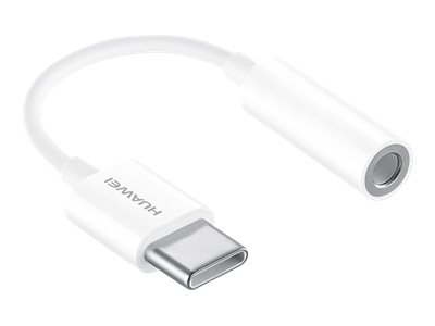 USB-C - Jack 3.5mm Adaptor, 9cm, White