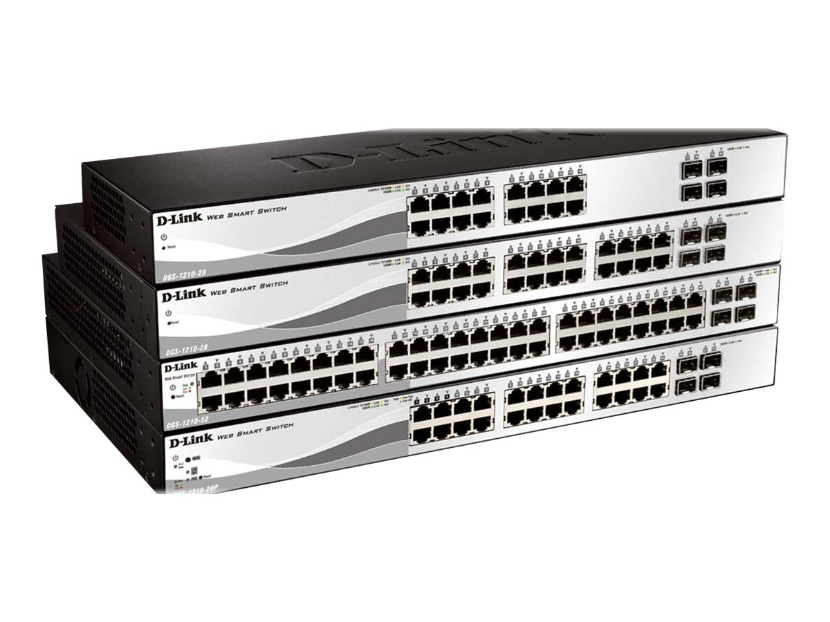 D-Link Web Smart DGS-1210-20 - switch - 16 ports - managed - rack-mountable