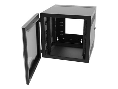 Legrand 26RU Swing-Out Wall-Mount Cabinet with Plexiglass Door-Black-TAA System cabinet