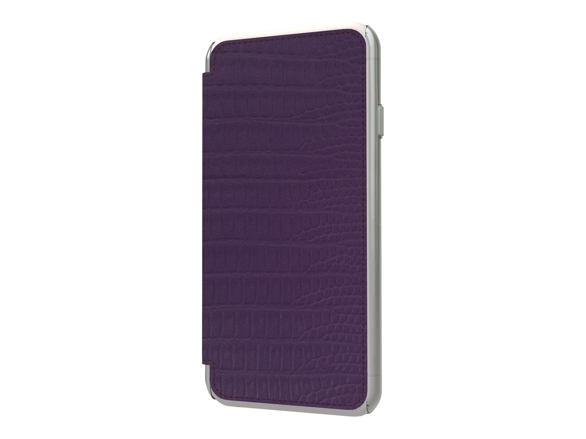 Muvit Made in Paris Crystal Folio - Protection à rabat pour iPhone 6 - violet lézard