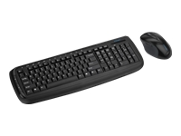 Kensington Pro Fit Wireless Desktop Set - Keyboard and mouse set - wireless - 2.4 GHz - UK layout - black