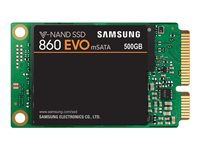 Samsung 860 EVO MZ-M6E500BW - Solid state drive - encrypted - 500 GB - internal - mSATA - SATA 6Gb/s - buffer: 512 MB - 256-bit AES - TCG Opal Encryption 2.0