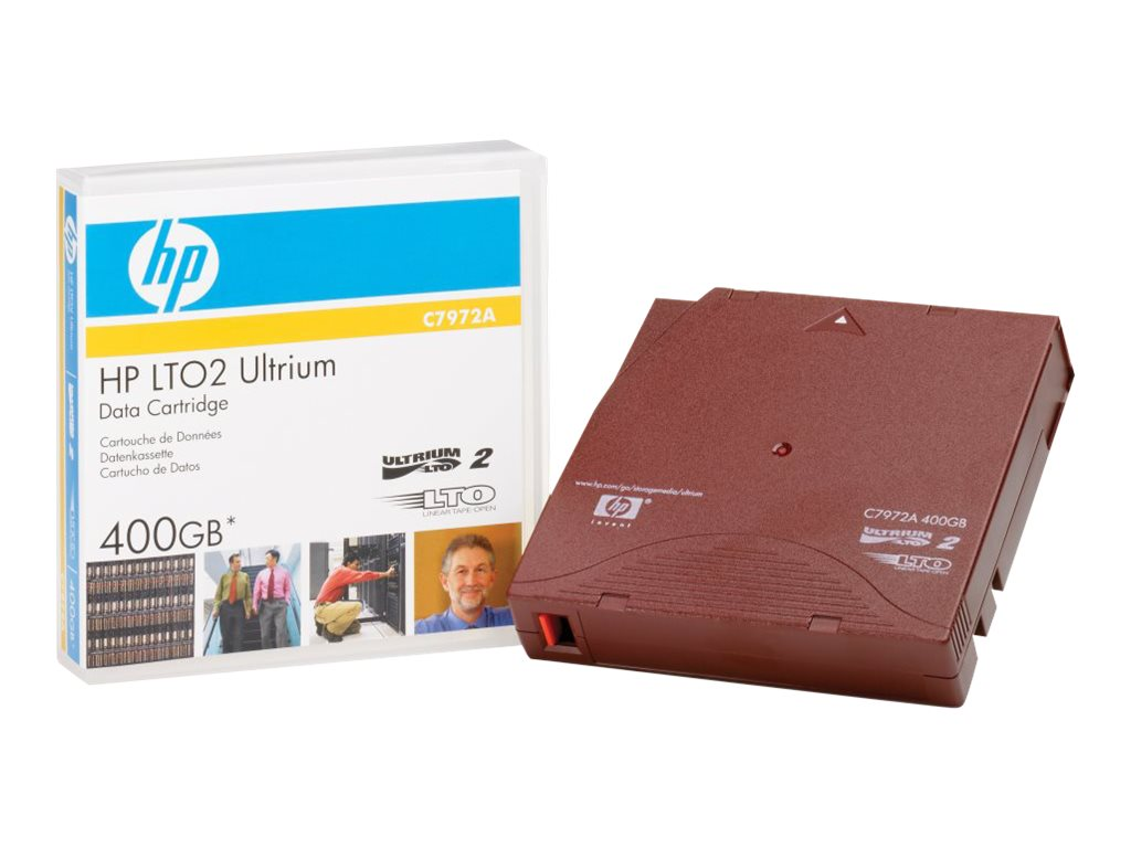 HPE - LTO Ultrium 2 - 200 GB / 400 GB - Rot - für LTO-4 Ultrium; SureStore Tape Library 1/20, 2/20, 2/40, 2/60, 4/40, 4/60, 6/60