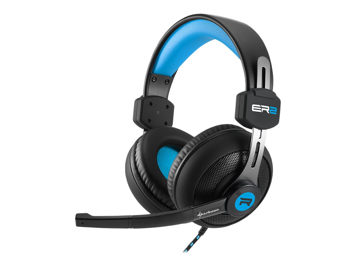 Sharkoon Rush ER2 - Headset - Full-Size - Blau
