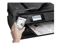 Epson WorkForce WF-7720DTWF - Multifunction printer - colour - ink-jet - A3 (297 x 420 mm) (original) - A3 (media) - up to 32 ppm (printing) - 500 sheets - 33.6 Kbps - USB 2.0, LAN, Wi-Fi(n), USB host, NFC ** End-User Free 3 Years Extended Printer Warranty Worth £250 redeemable valid between 1st July 2019 until 31st December 2019 via www.epson.co.uk/printerwarranty or www.epson.ie/printerwarranty. Claims must be submitted within 30 days of purchasing the produc product **