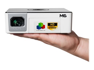 AAXA M6 DLP projector RGB LED array portable 1200 lumens Full HD (1920 x 1080) 16:9