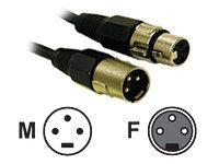 C2G Pro-Audio 6ft Pro-Audio XLR Male to XLR Female Cable - audio cable - 1.83 m