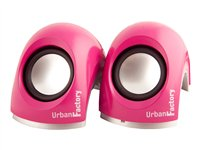 Urban Factory Crazy Speakers for portable use 6 Watt (total) pink