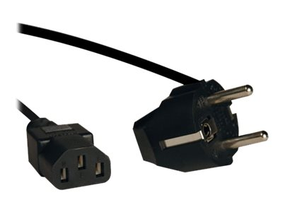 Tripp Lite 2 Prong European Computer Power Cord 10A C13 to SCHUKO CEE 7/7 - power cable - 2.4 cm