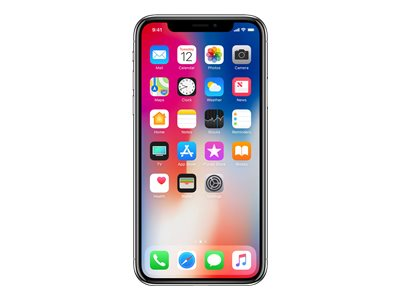 Apple iPhone X - space grey - 4G LTE,LTE Advanced - 64 GB - GSM - smartphone