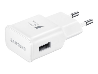 Samsung EP-TA20EWEU - Strøm adapter - AC / USB - for Galaxy Note 4