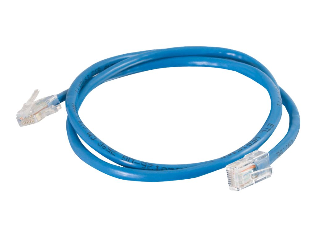 C2G Cat5e Non-Booted Unshielded (UTP) Network Patch Cable - patch cable - 2.14 m - blue