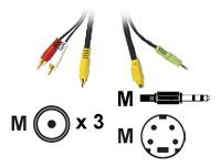 C2G Value Series 12ft Value Series Bi-Directional S-Video + 3.5mm Audio to RCA Audio/Video Cable - video / audio cable …