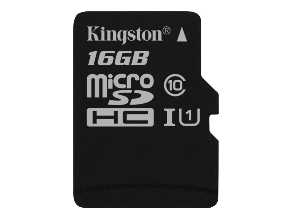 Kingston - Flash-Speicherkarte - 16 GB - UHS Class 1 / Class10 - microSDHC UHS-I