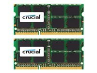 Picture of Crucial - DDR3 - 16 GB: 2 x 8 GB - SO-DIMM 204-pin - unbuffered (CT2K8G3S160BM)