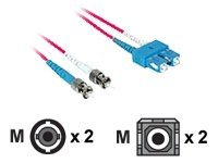 C2G 1m SC-ST 9/125 Duplex Single Mode OS2 Fiber Cable - Red - 3ft - patch cable - 1 m - red