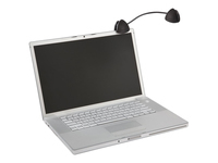 Kensington FlexClip Copyholder Black 62081. Flexible gooseneck for easy positioning that suits you. Clips onto laptops and TFT or CRT monitors. Compact and portable. Holds documents in both portrait or landscape orientation.