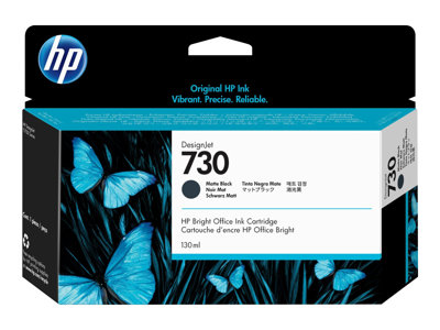 HP 730 130 ml matte black original DesignJet ink cartridge
