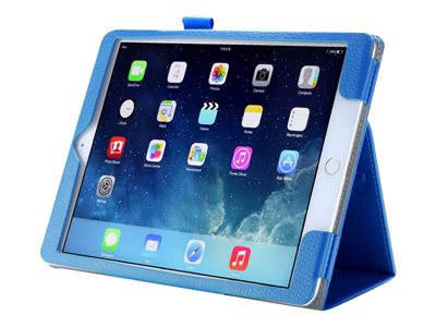 i-Blason Slim Book Flip cover for tablet synthetic leather blue for Ap