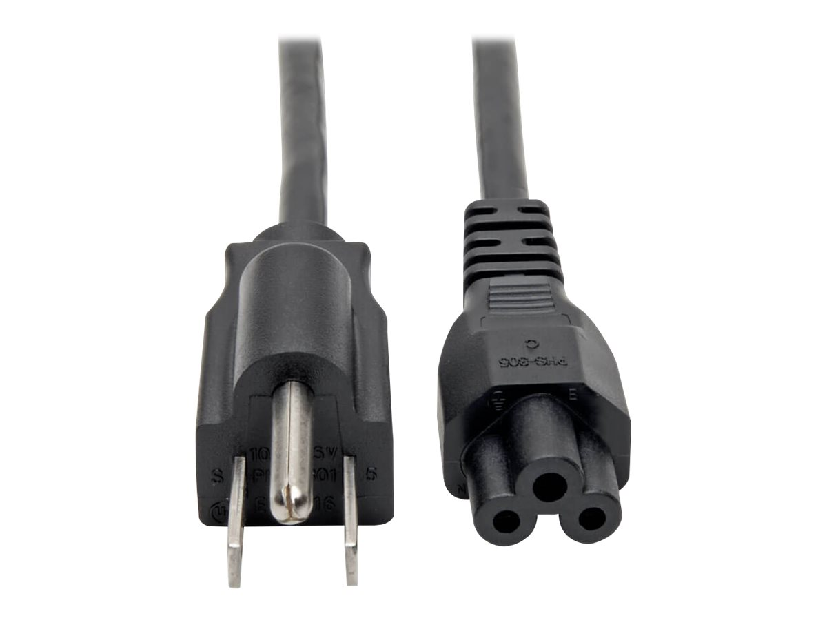 Tripp Lite 6ft Laptop / Notebook Power Cord Cable 5-15P to C5 10A 18AWG 6' - power cable - 1.82 m