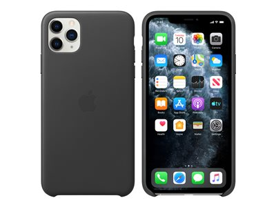Apple - Back cover for cell phone - leather, machined aluminum - black