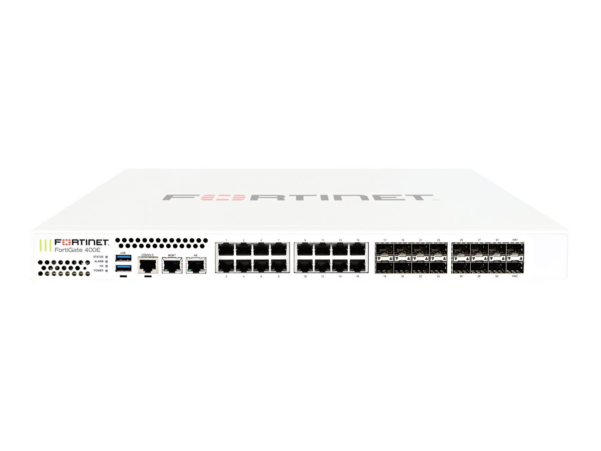 Fortinet FortiGate 400E - UTM Bundle - security appliance - with 1 year FortiCare 8X5 Service + 1 year FortiGuard