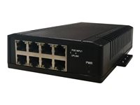 Tycon Power TP-SW8 Series TP-SW8-NC Switch unmanaged 7 x 10/100 (PoE) + 1 x 10/100 (uplink)