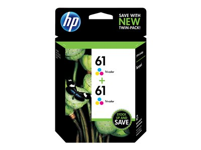 HP 61 2-pack color (cyan, magenta, yellow) original ink cartridge