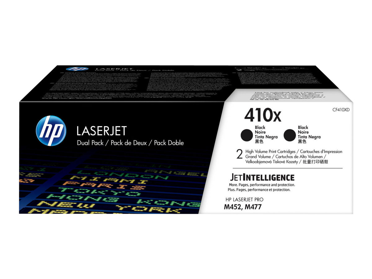 HP 410X - 2-pack - High Yield - black - original - LaserJet - toner cartridge (CF410XD)