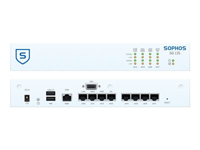 Sophos SG 125w Security appliance with 3 years TotalProtect 8 ports GigE Wi-Fi