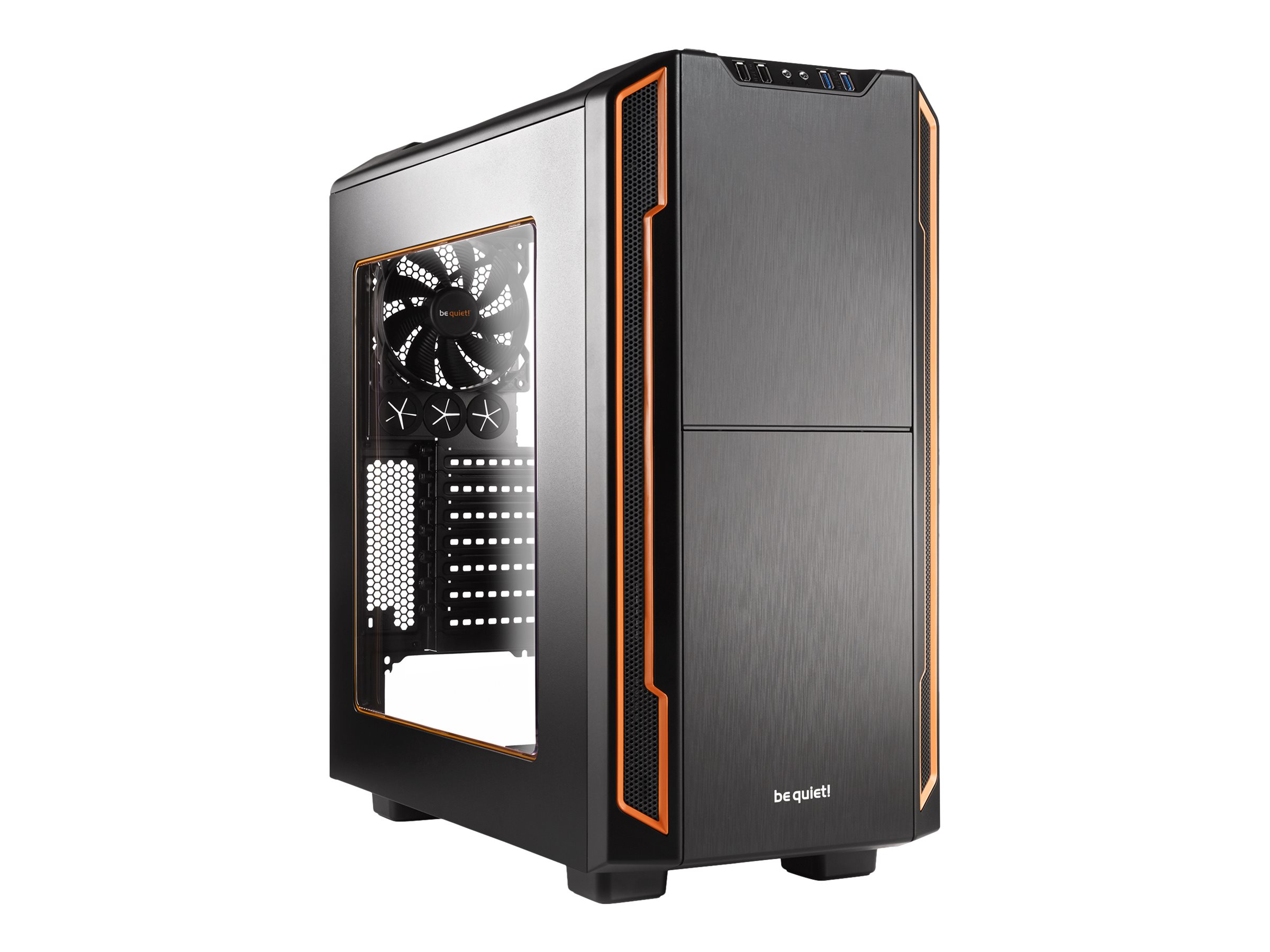 be quiet! Silent Base 600 - Window Edition - Tower - ATX - ohne Netzteil - orange