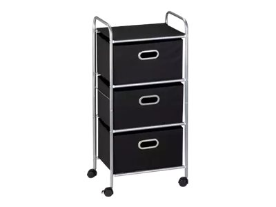 Honey-Can-Do Rolling Trolley 3 drawers fabric, steel