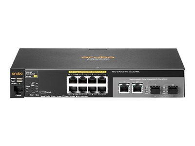 HPE Aruba 2530-8G-PoE+ Switch managed 8 x 10/100/1000 (PoE+) + 2 x combo Gigabit SFP