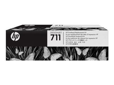 HP 711 - black, yellow, cyan, magenta - printhead