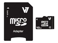 V7 VAMSDH16GCL10R-2N Flash memory card (microSDHC to SD adapter included) 16 GB Class 10