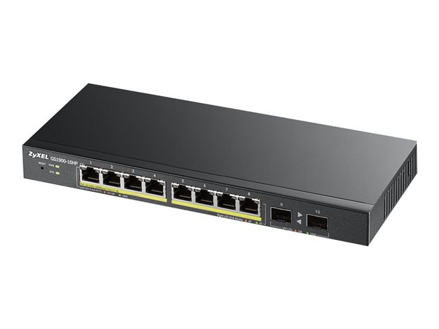 Image of Zyxel GS1900-10HP - switch - 8 ports - smart