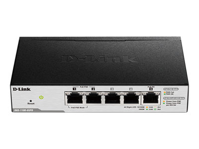 D-Link Smart Managed Switch DGS-1100-05PD Switch 5-porte Gigabit  PoE