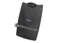 Ergonomic copyholder designed to reduce neck movement and strain by placing source documents in-line with monitors. Features include 4 angle settings for complete user flexibility & 50 sheet capacity. Fits A4 and Legal Size Paper Non-Returnable.
