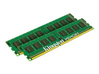 Kingston ValueRAM - DDR3 - 8 GB: 2 x 4 GB - DIMM 240-pin - 1333 MHz / PC3-10600 - CL9 - 1.5 V - unbuffered - non-ECC