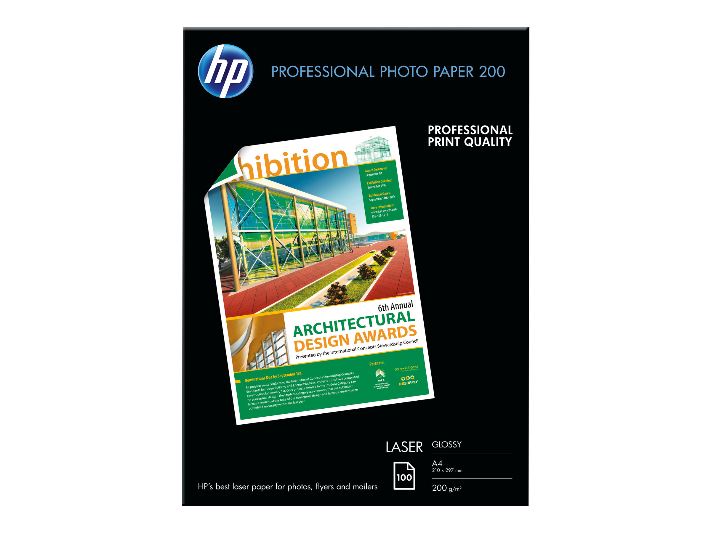 HP Professional Glossy Paper - photo paper - 100 sheet(s) - A4 - 200 g/m²
